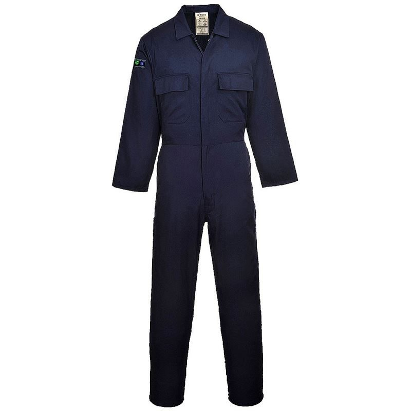 Q-Flame Flame Retardant Anti Static Navy Coverall - 310gsm