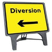 CuStack Diversion Left Sign - 1050 x 750mm