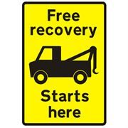Free Recovery Starts Here Traffic Management Sign