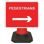 Hangman Pedestrians Right Cone Sign - 600 x 450mm