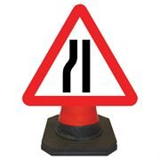 Hangman Road Narrows Nearside Cone Sign - 750mm