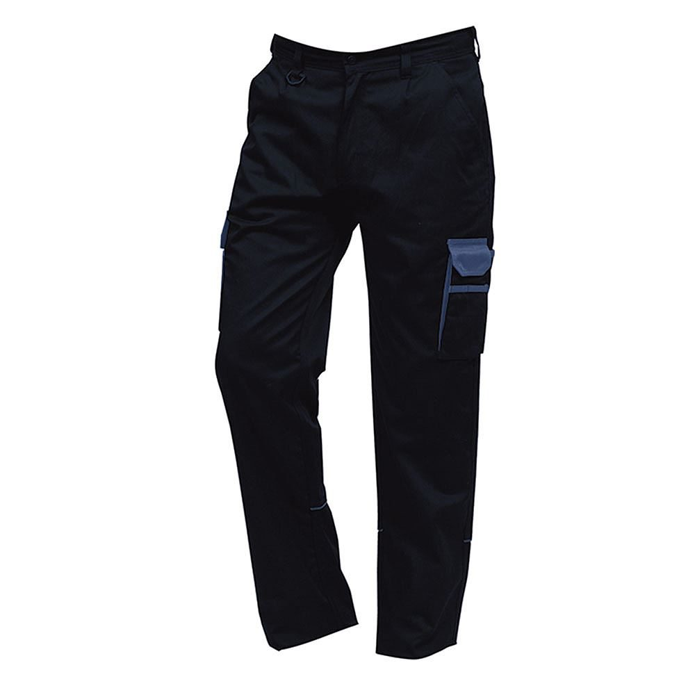 Orn Two Tone Combat Trousers - 245gsm - Tall Leg - Navy/Royal Blue