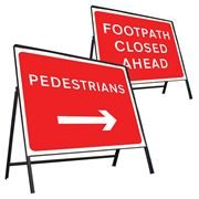 Riveted Metal Road Signs - 600 x 450mm