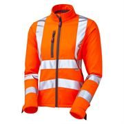 Leo Honeywell Women's Rail Hi Vis Class 2 Orange Softshell Jacket