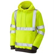 Leo Goodleigh Hi Vis Class 3 Hooded Yellow Sweatshirt