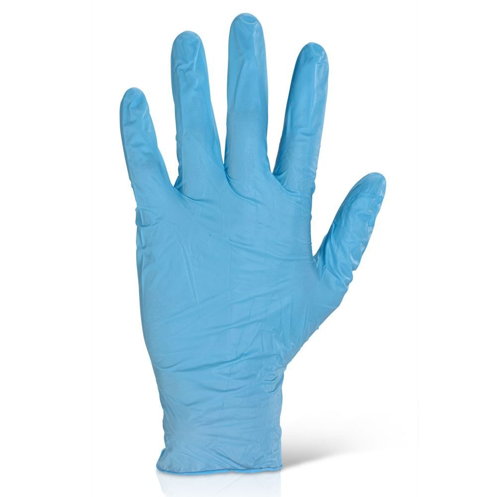 Nitrile Powder Free Blue Disposable Gloves - Box of 100