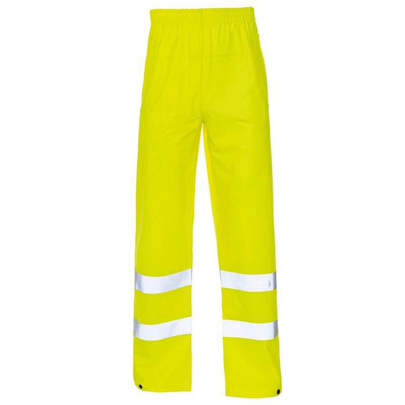 Super-Dri Waterproof Hi Vis Breathable PU Coated Trousers - Yellow