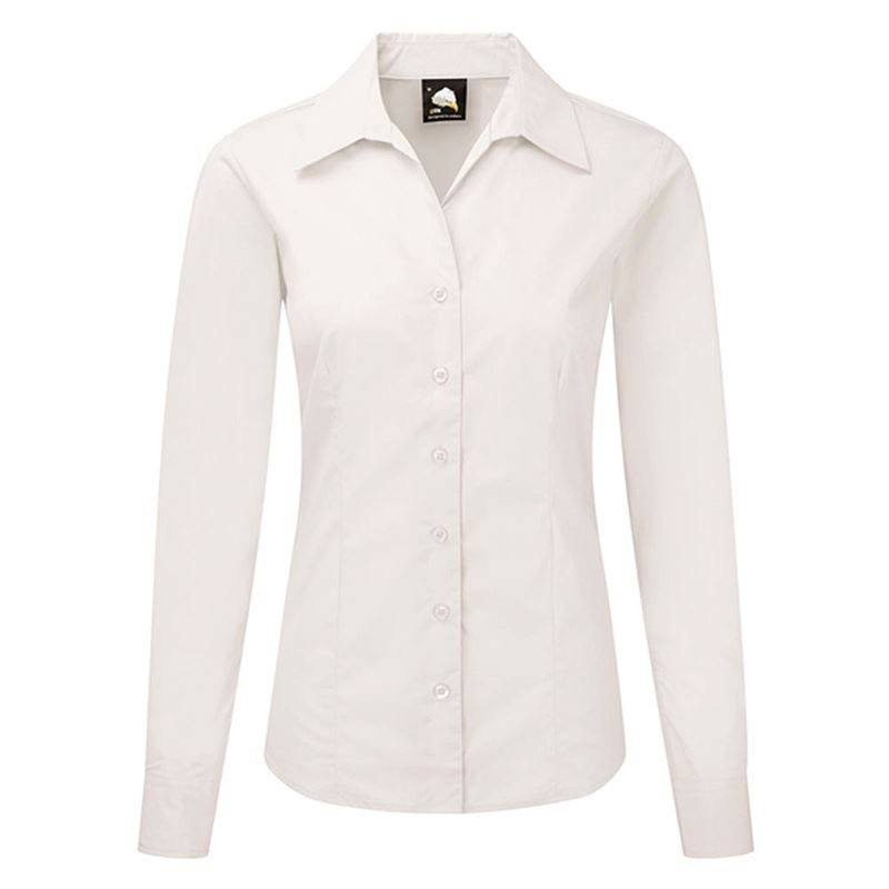 Orn Oxford Premium Ladies' Long Sleeve Blouse - 145gsm - White