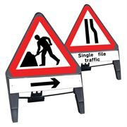 CuStack Triangular Signs with Supplement Plates - 750mm