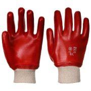 Red Knitwrist Safety Gloves