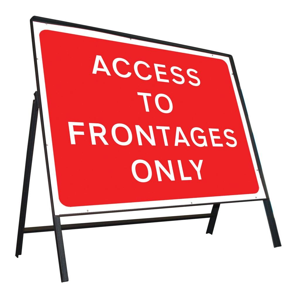 Access To Frontages Only Riveted Metal Road Sign - 1050 x 750mm