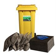 Ecospill Maintenance Spill Response Kit - 2 Wheel PE Bin - 120 Litre