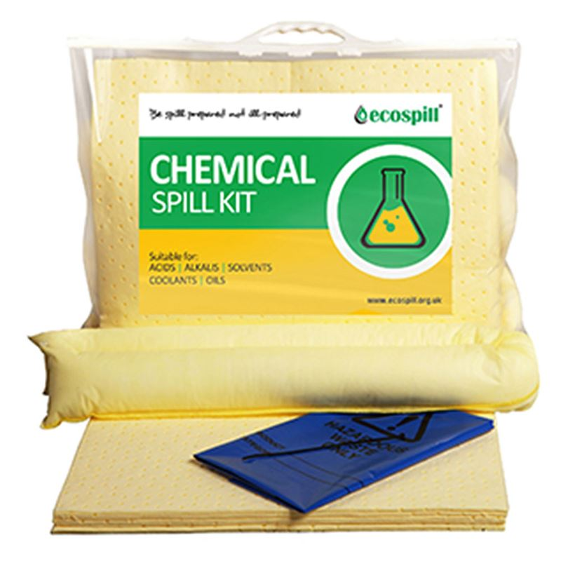 Ecospill Chemical Spill Response Kit - Clip Top Carrier - 15 Litre