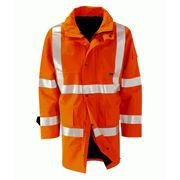 Orbit International Amazon Gore-Tex Rail Waterproof Breathable Hi Vis Class 3 Orange Jacket