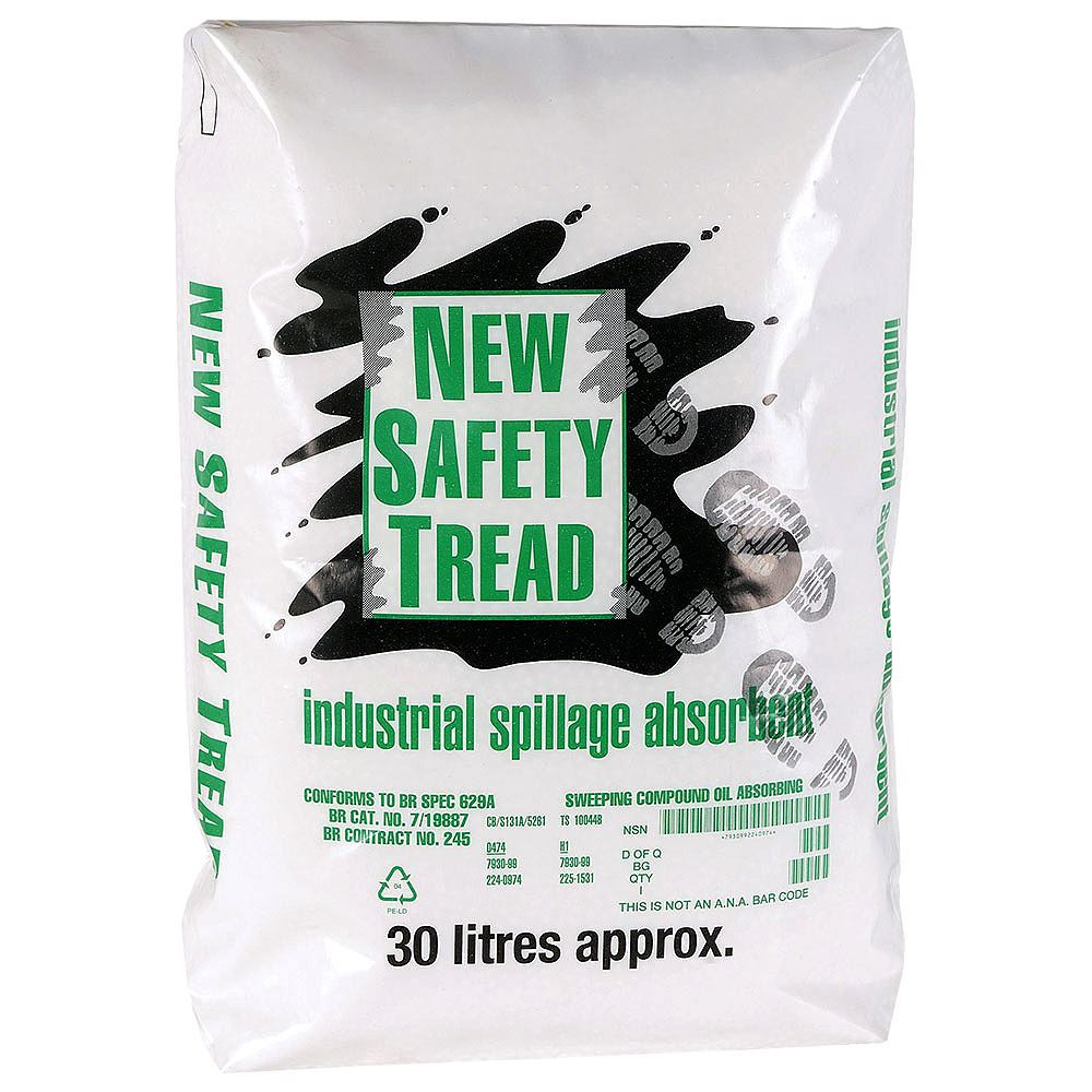 New Safety Tread Oil Absorbent Granules - 30 Litre
