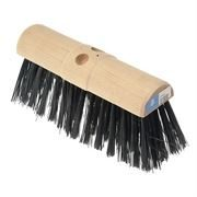Heavy Duty Poly Broom Head - 13 inch - Round Back