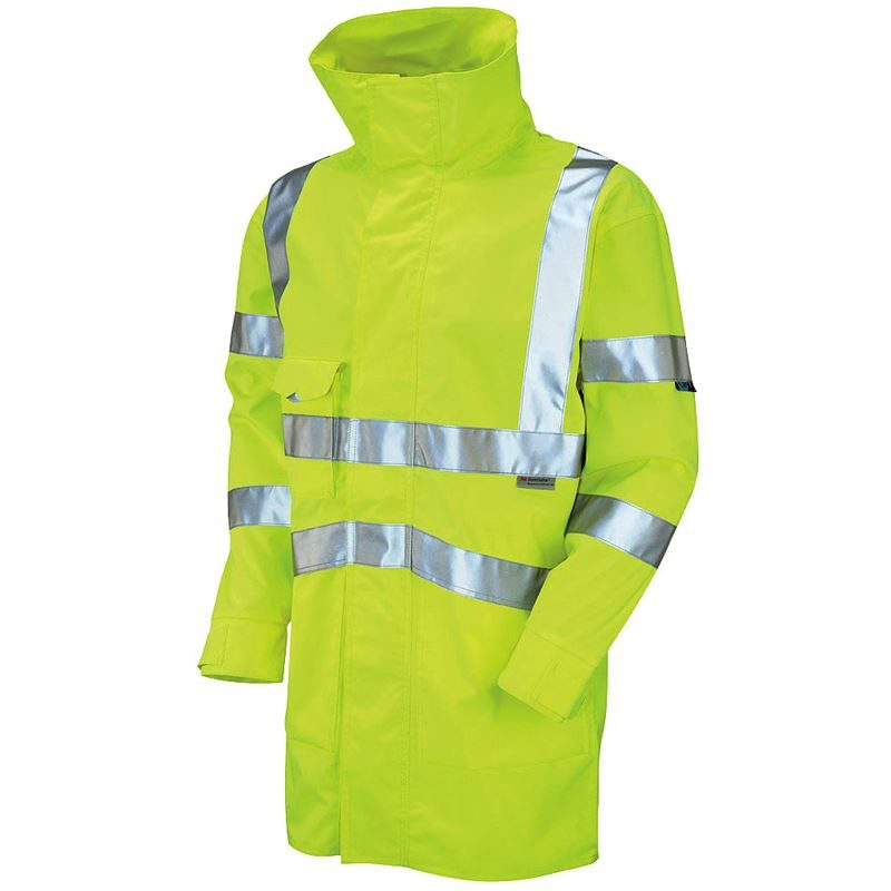 Leo Clovelly Waterproof Breathable Hi Vis Class 3 Yellow Executive Anorak