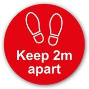 Keep 2m Apart Anti Slip Floor Graphic - 200mm