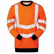 Pulsarail Rail Flame Retardant Anti Static Arc Hi Vis Class 3 Long Sleeve Orange Sweatshirt