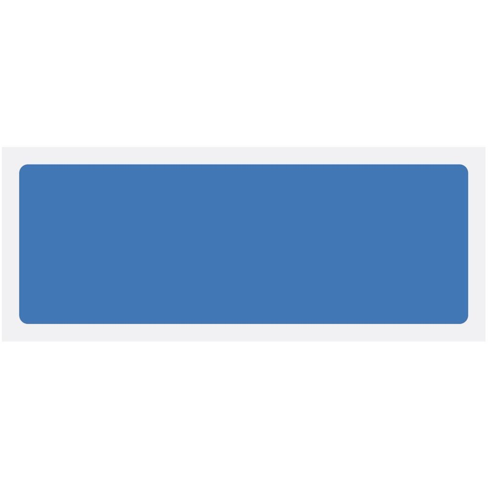Blue Blank Rigid Plastic Sign - 600 x 200mm