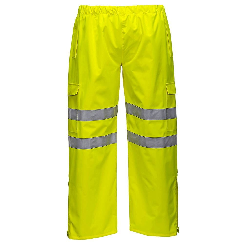 Portwest S597 Waterproof Breathable Hi Vis Class 2 Yellow Extreme Trousers