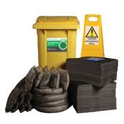 Ecospill Maintenance Spill Response Kit - 2 Wheel PE Bin - 360 Litre