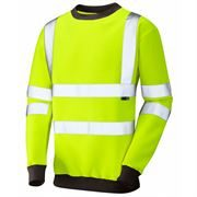 Leo Winkleigh Hi Vis Class 3 Yellow Crew Neck Sweatshirt