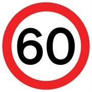 60 mph Traffic Management Sign
