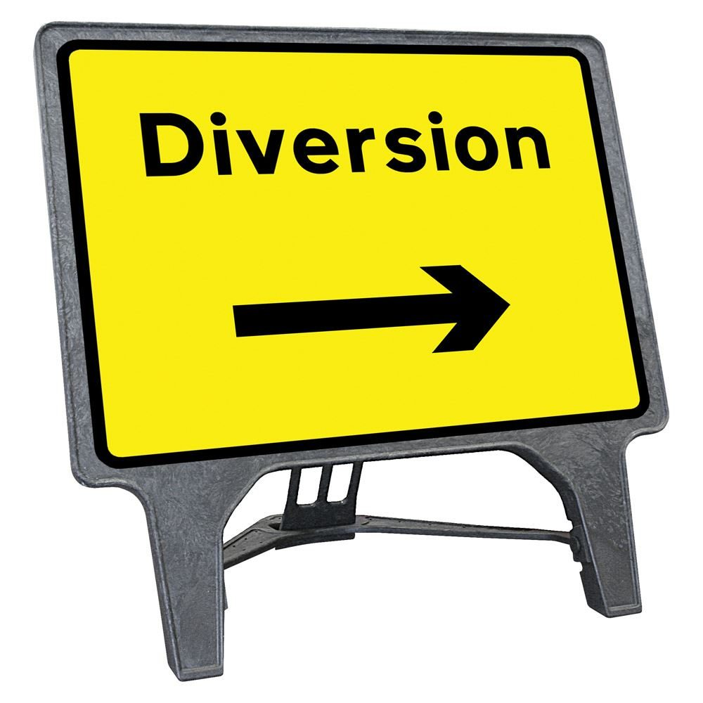 CuStack Diversion Right Sign - 1050 x 750mm