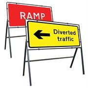 Clipped Metal Road Signs - 1050 x 450mm