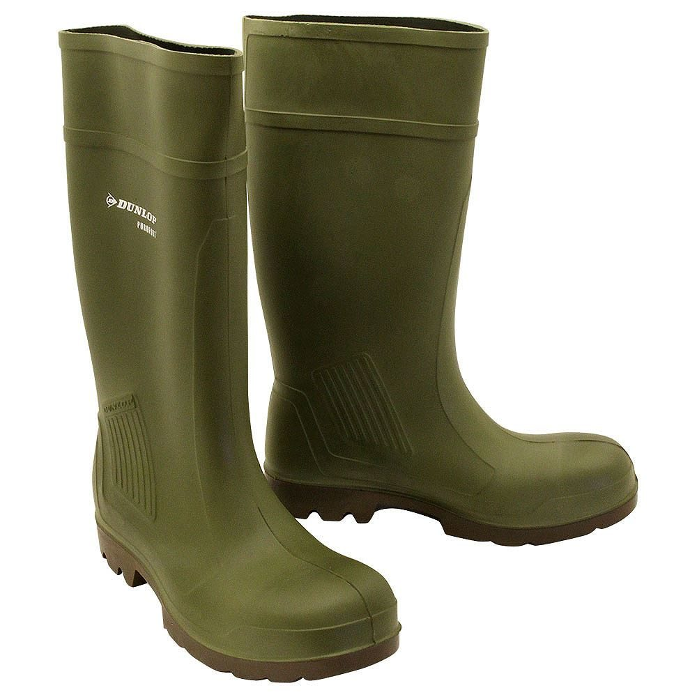 Dunlop Purofort Green Safety Wellington Boots