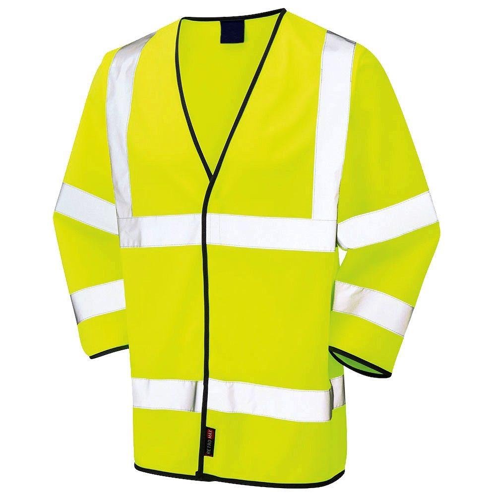 Hi Vis Class 3 Long Sleeve Yellow Waistcoat