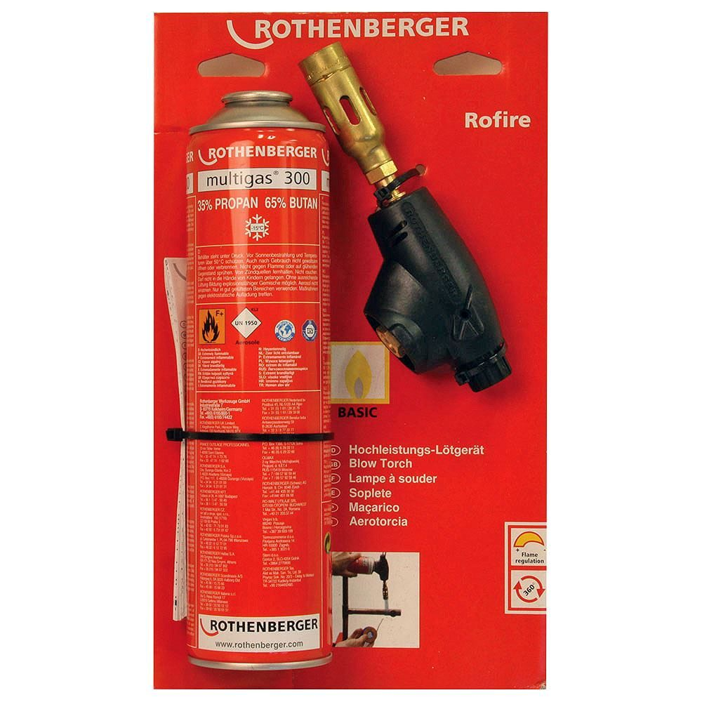 Rothenberger Rofire Gas Torch Set - Manual Ignition