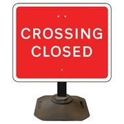 Louis Crossing Closed Sign - 600 x 450mm