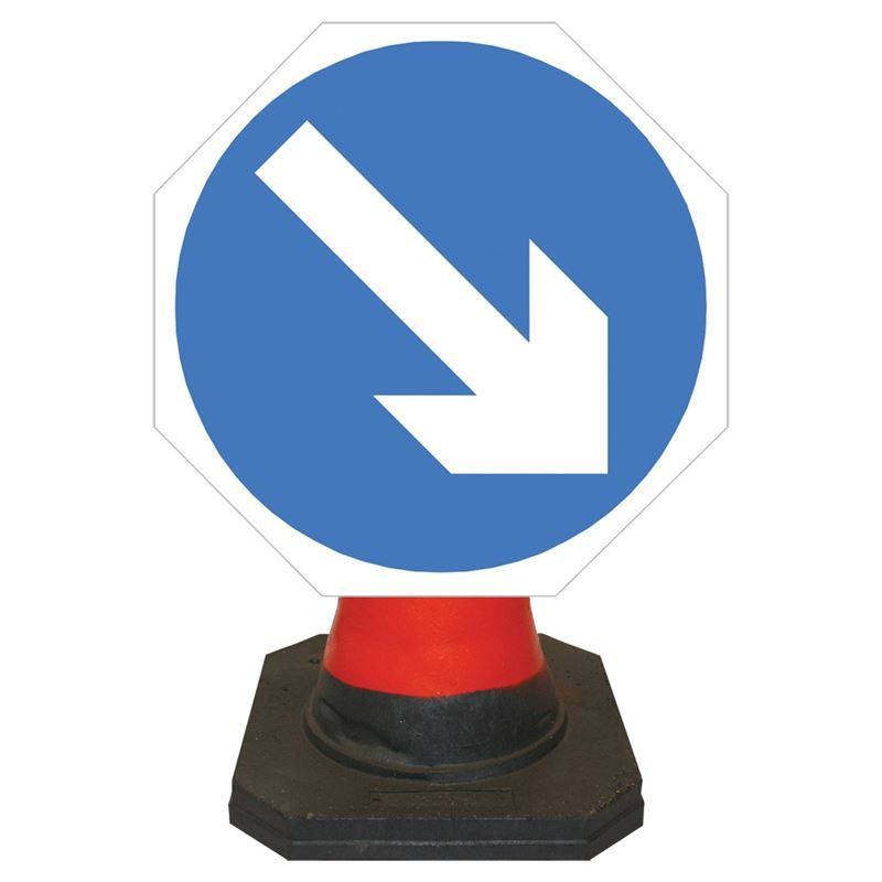 Hangman Keep Right Cone Sign - 750mm