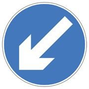 Arrow Blue Circular Traffic Management Sign