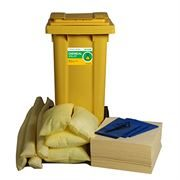 Ecospill Chemical Spill Response Kit - 2 Wheel PE Bin - 120 Litre