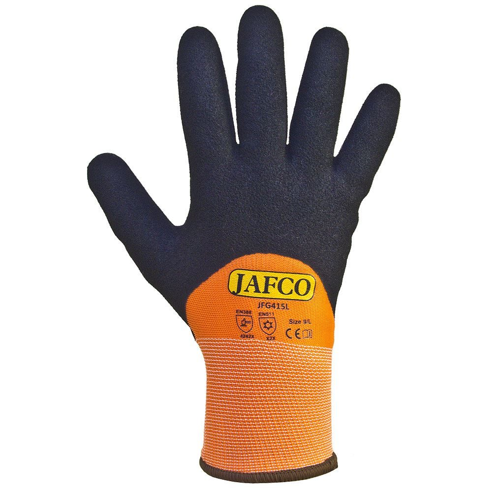 Jafco Winter Thermal Coated Safety Gloves