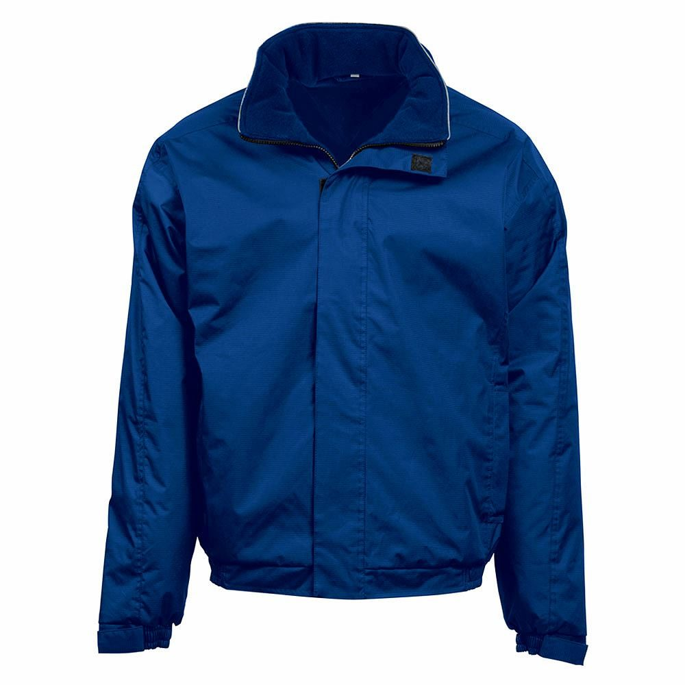 Orn Fulmar Fleece Lined Bomber Jacket - Royal Blue