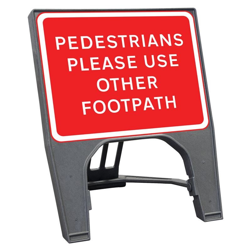CuStack Pedestrians Please Use Other Footpath Sign - 600 x 450mm