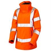 Leo Rosemoor Women's Rail Waterproof Breathable Hi Vis Orange Jacket