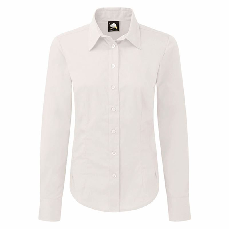 Orn Essential Ladies' Long Sleeve Blouse - 105gsm - White