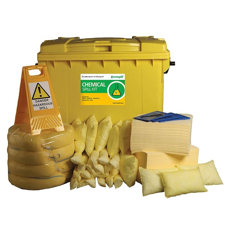 Ecospill Chemical Spill Response Kit - 4 Wheel PE Bin - 600 Litre