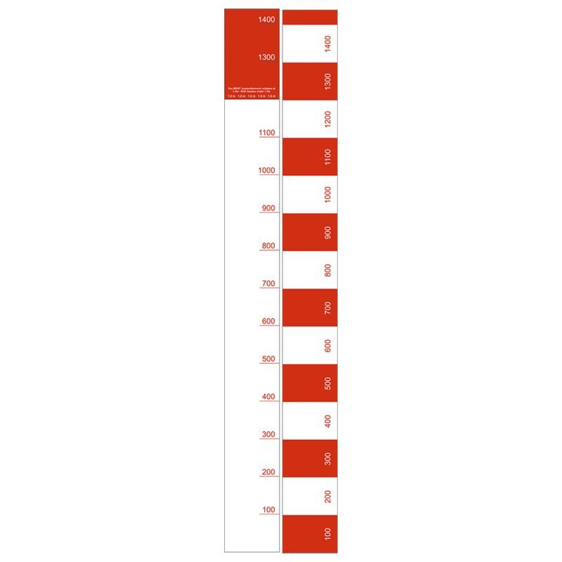 Trench Measuring Stick - 1440mm x 135mm
