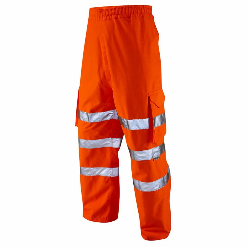 Jafco Rail Waterproof Breathable Hi Vis Class 1 Orange Executive Cargo Overtrousers