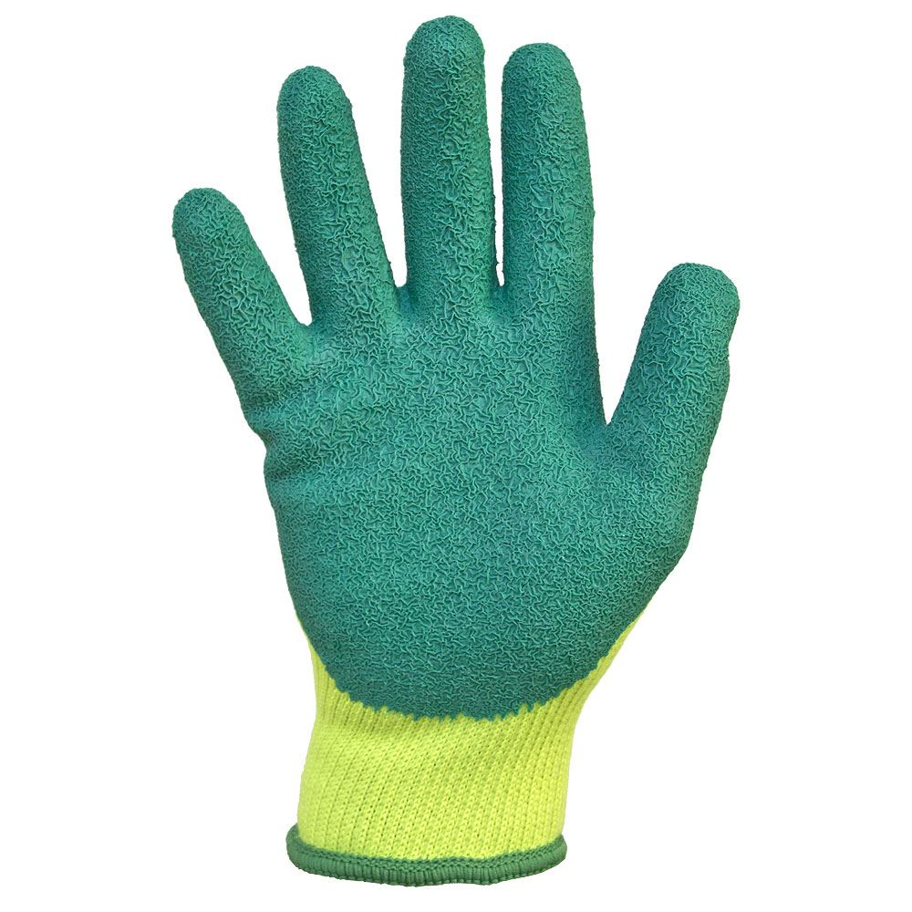 Jafco Fluorescent Green Palm Coated Safety Gloves