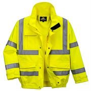 Waterproof Breathable Hi Vis Yellow Extreme Bomber Jacket - 200gsm