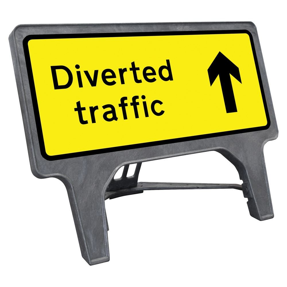 CuStack Diverted Traffic Reversible Sign - 1050 x 450mm