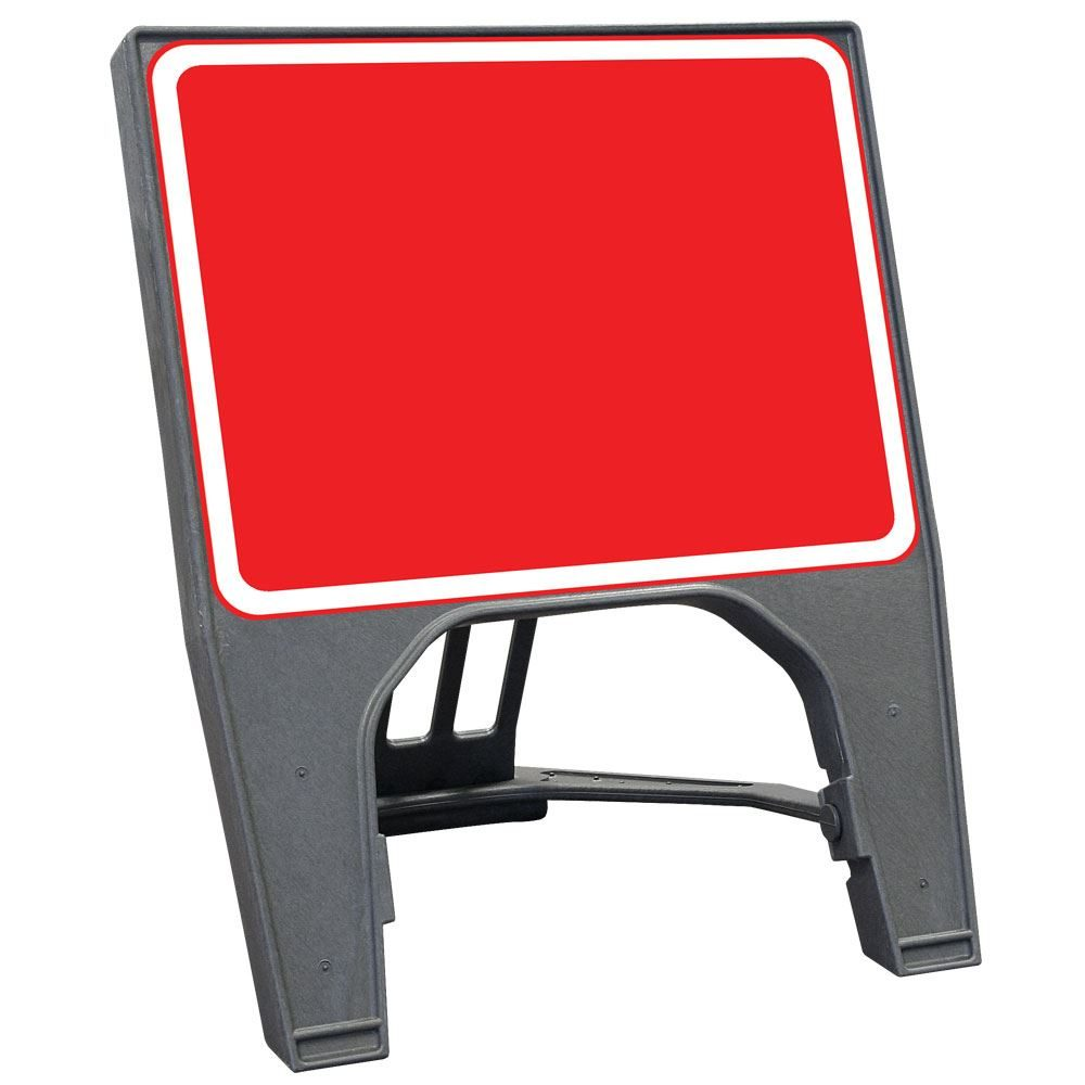 CuStack Red Face, White Border Blank Sign - 600 x 450mm