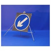 Classic Keep Left Circular Roll Up Road Sign - 750mm